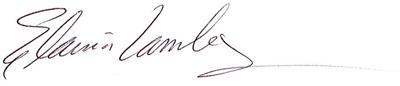 Elaina Lamley signature